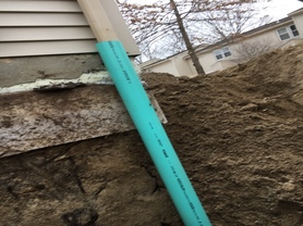 Westbrook, Maine Install New Basement Drain